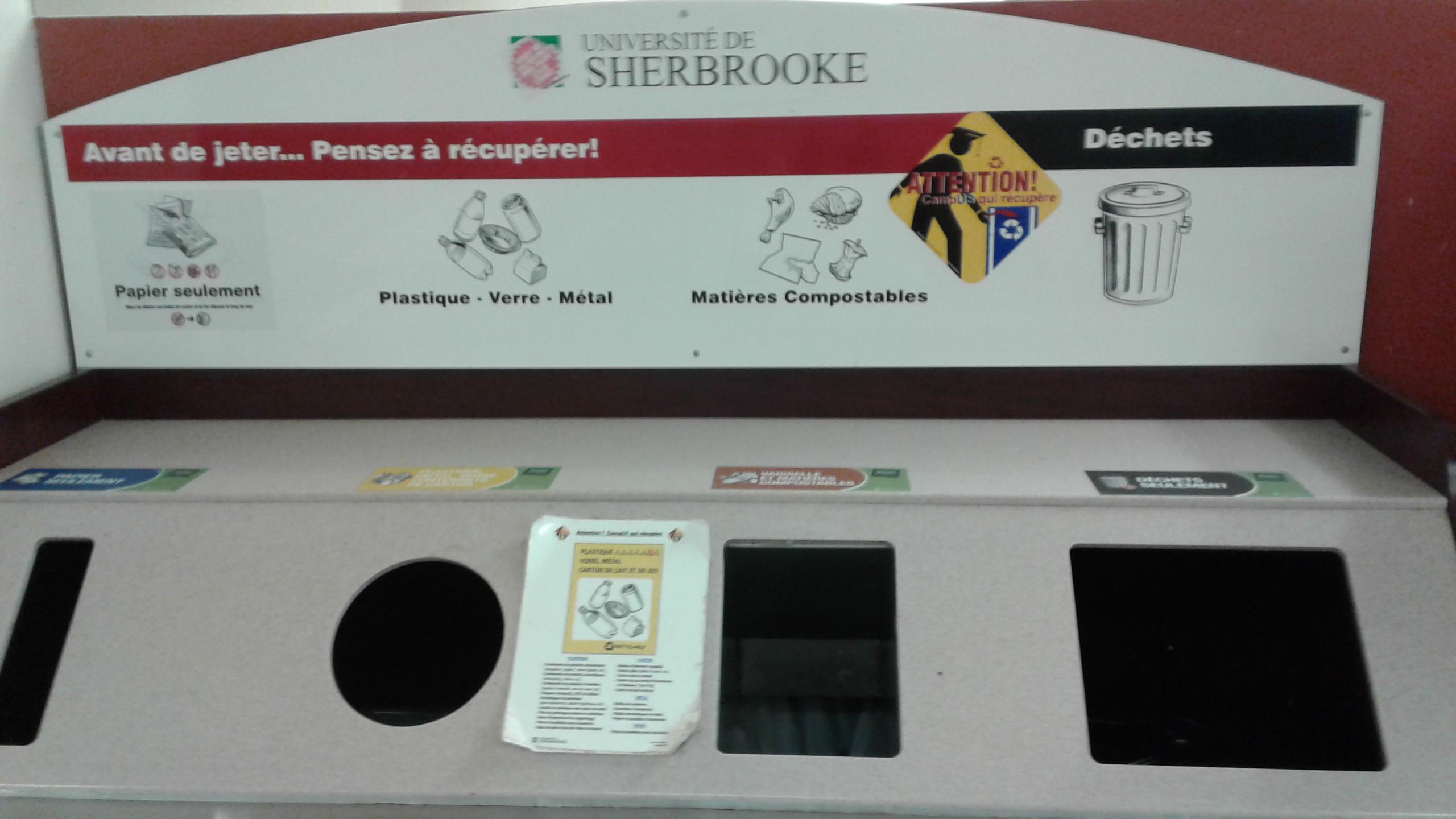 Il y a toujours quelque part de belles initiatives qui existent ... (photo prise à l'université de Sherbrooke, Québec, Canada)