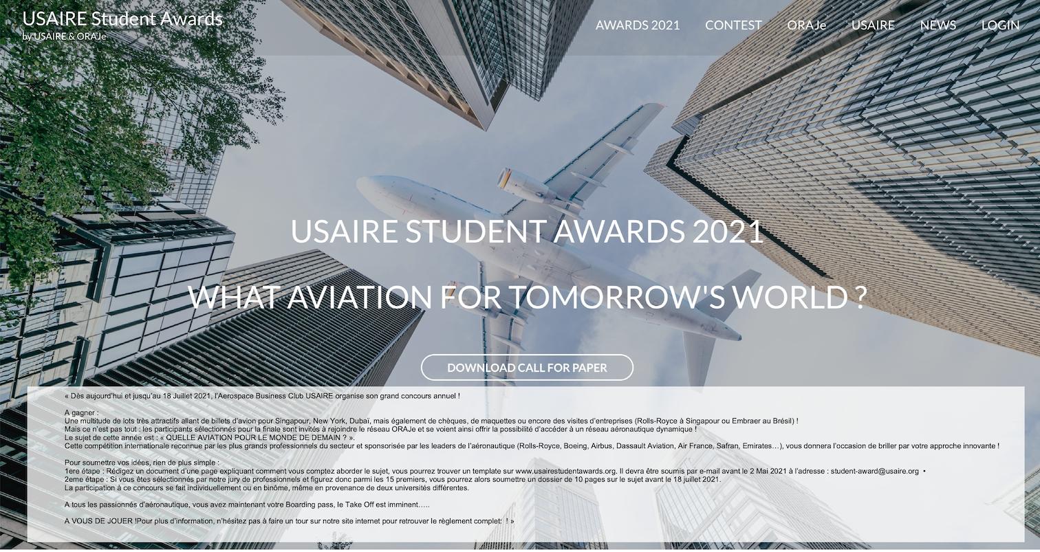 Image du concours USAIRE 2021